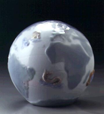 16th Century Globe Paperweight Lladro Figurine