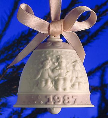 1987 Christmas Bell (l.e. Lladro Figurine