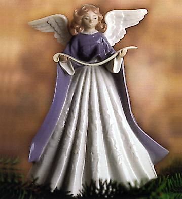 1993 Angel Tree Topper Lladro Figurine