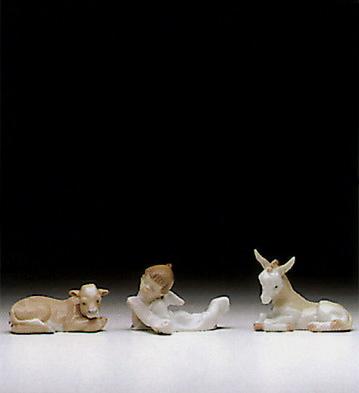 1993 Three Piece Set(no H Lladro Figurine