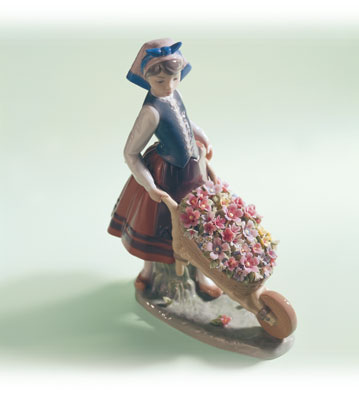 A Barrel Of Blossoms Lladro Figurine