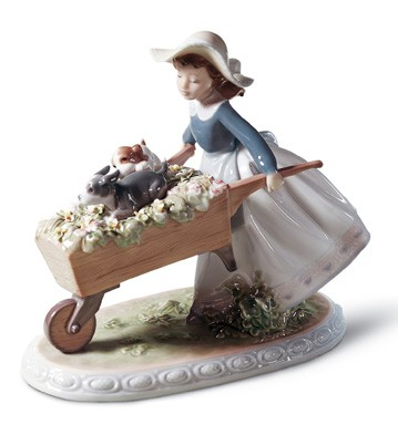A Barrow Of Fun Lladro Figurine