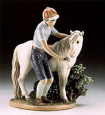 A Boy And His Pony Lladro Figurine
