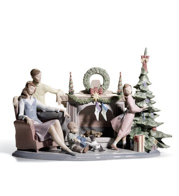 A Family Christmas Lladro Figurine