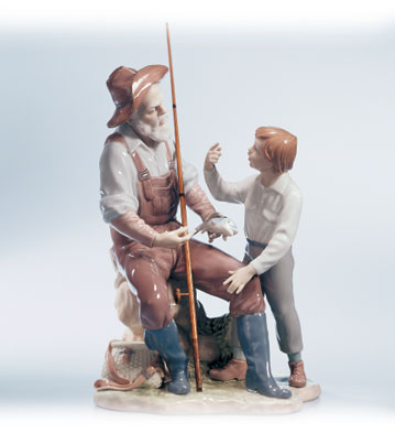 A Fishing Lesson Lladro Figurine