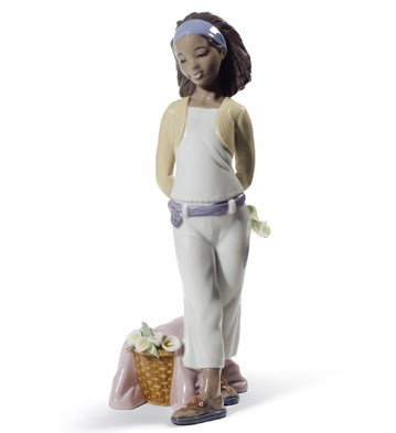 A Gift Of Lillies Lladro Figurine