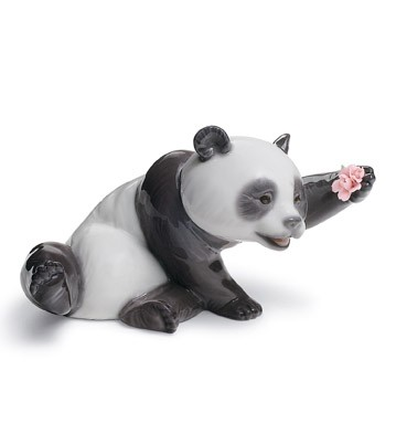 A Jolly Panda Lladro Figurine