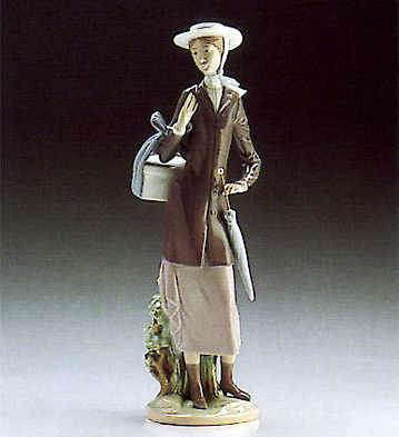 A New Hat Lladro Figurine