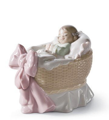 A New Treasure (girl) Lladro Figurine