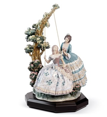 A Quiet Conversation Lladro Figurine