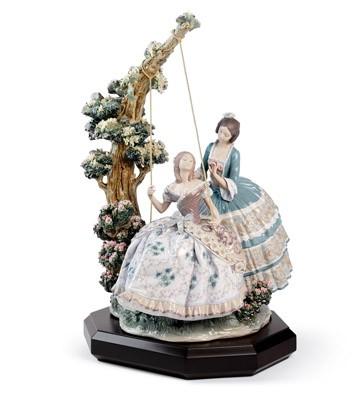 A Quiet Conversation Lladro Figurine