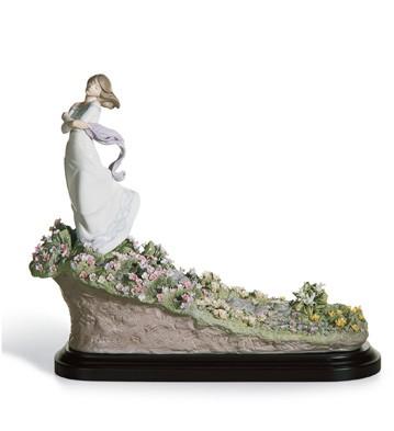 A Sea Of Flowers Lladro Figurine