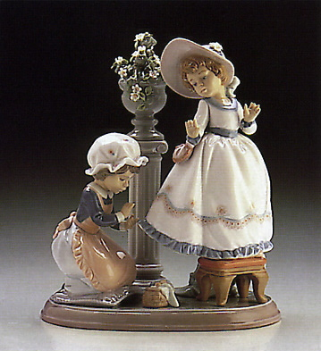 A Stitch In Time Lladro Figurine