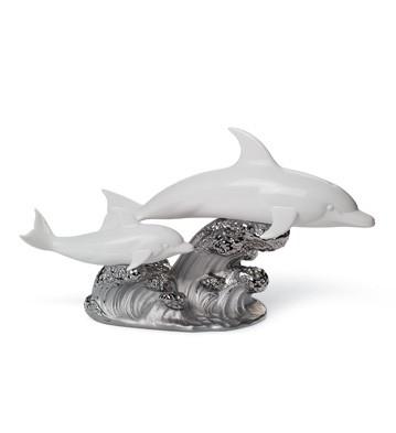A Swimming Lesson (re-deco) Lladro Figurine