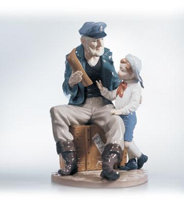 A Tall Yarn Lladro Figurine