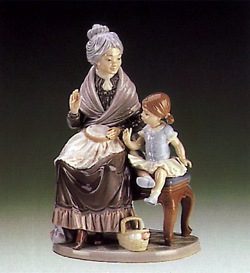 A Visit W\granny Lladro Figurine