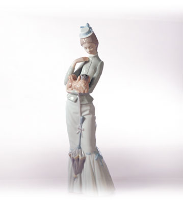 A Walk With The Dog Lladro Figurine
