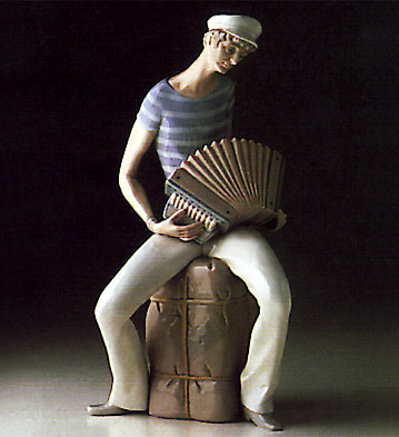 Accordion Player Lladro Figurine
