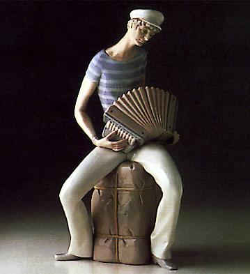 Accordion Player Lladro Figurine