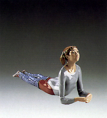Aerobics,floor Exercise Lladro Figurine