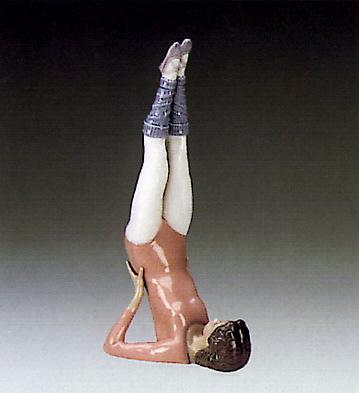 Aerobics,push-ups Lladro Figurine