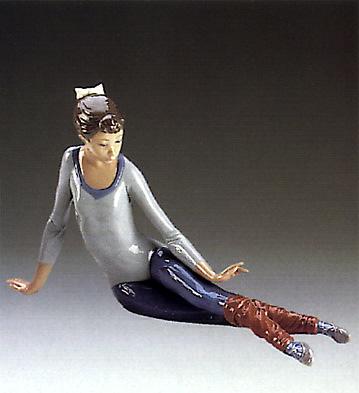 Aerobics,scissor Figure Lladro Figurine