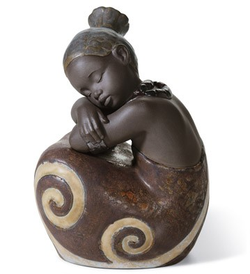 African Girl Lladro Figurine