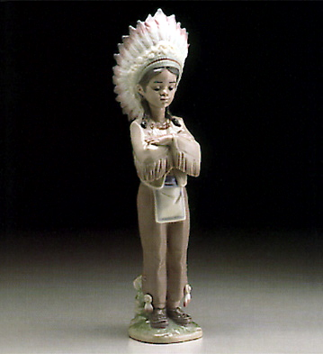 American Indian Boy Lladro Figurine
