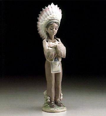 American Indian Boy Lladro Figurine