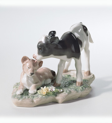...and The Calf And The Young Lion... Lladro Figurine