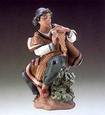 Andian Fluteplayer Lladro Figurine