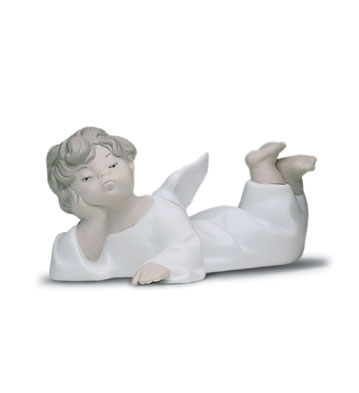 Angel Laying Down Lladro Figurine