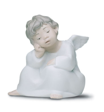 Angel Thinking Lladro Figurine