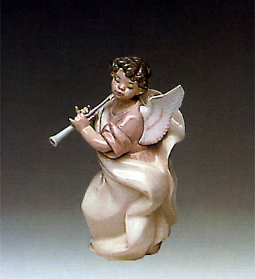 Angel With Clarinet 2 Lladro Figurine