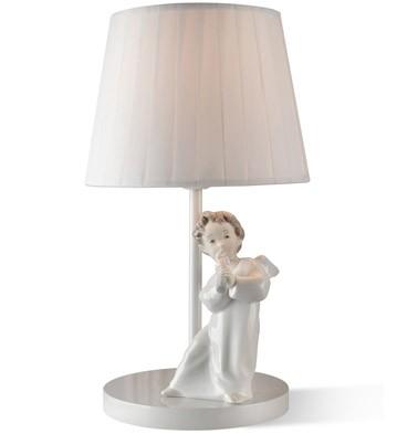 Angel With Flute - Lamp (us) Lladro Figurine