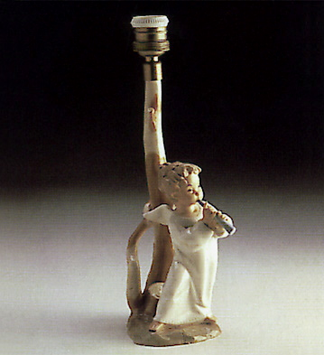 Angel With Flute (lamp) Lladro Figurine