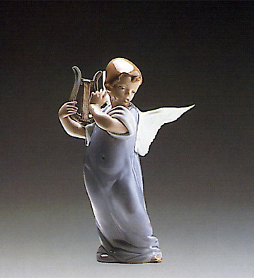 Angel With Lute 2 Lladro Figurine