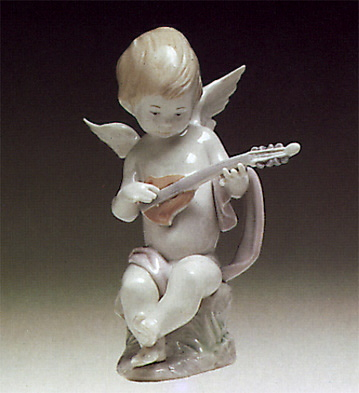 Angel With Lute Lladro Figurine