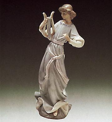 Angel With Lyre Lladro Figurine