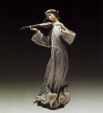 Angel With Mandolin Lladro Figurine