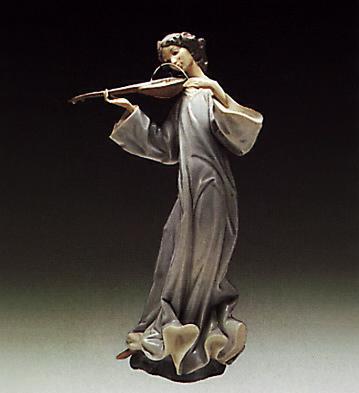Angel With Mandolin Lladro Figurine