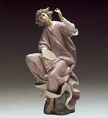 Angel With Tambourine Lladro Figurine