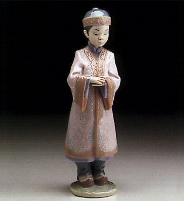 Asian Boy Lladro Figurine