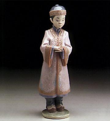 Asian Boy Lladro Figurine