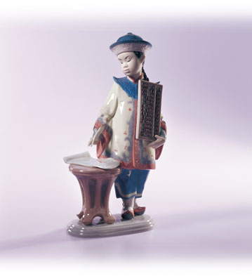Asian Scholar Lladro Figurine