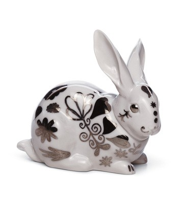 Attentive Bunny (re-deco) Lladro Figurine