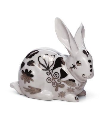 Attentive Bunny (re-deco) Lladro Figurine