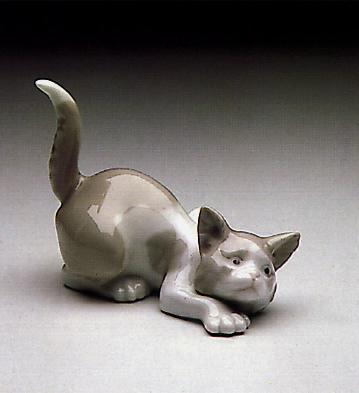 Attentive Cat Lladro Figurine