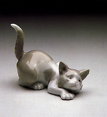Attentive Cat Lladro Figurine