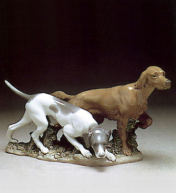Attentive Dogs Lladro Figurine